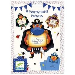 Cartes d'invitation - Pirates