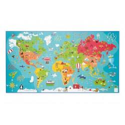 Puzzle carte du monde - 150...