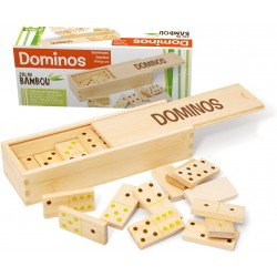 Coffret Dominos Bambou -...