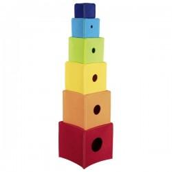 Cubes textiles à empiler...